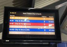 ブリスベン、市内、電車、エアトレイン