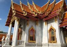 バンコク、マーブル寺院、タイランド、thai